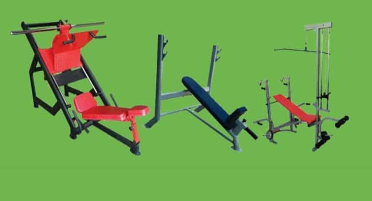 میز بدنسازی تاشو خانگی هالتر وزنه دمبل
