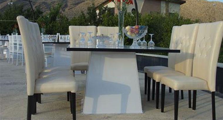کرایه انواع صندلی و میز و تجهیزات مجالس