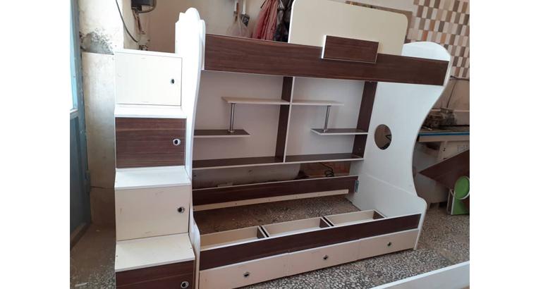 تولید تخت دو طبقه