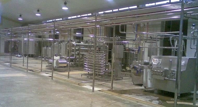 سیستم صنعتی تولید ماست و لبنیات