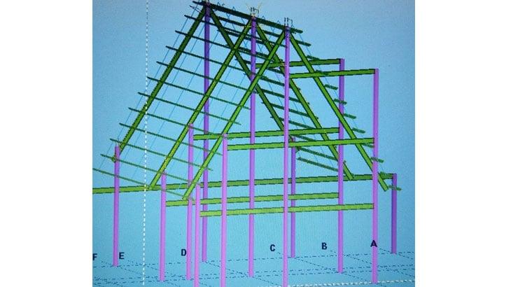 طراحی و ساخت اسکلت های فلزی