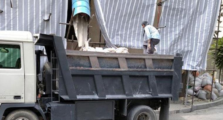 حمل نخاله با کامیون بادسان