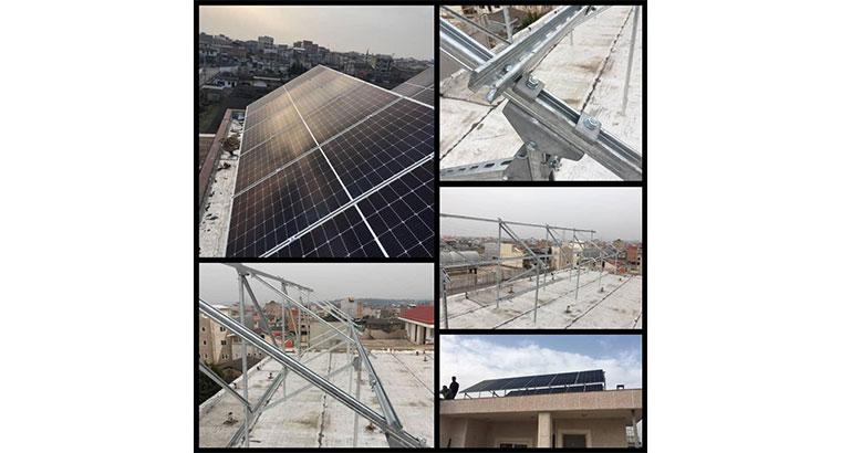 تولید انواع سازه های خورشیدی