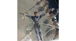 کار در ارتفاع دسترسی با طناب