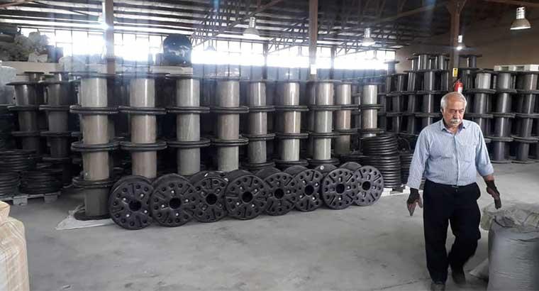 تولید قرقره سیم و کابل در ساوه
