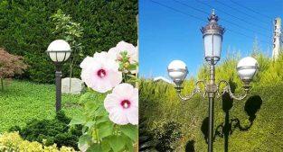 چراغ پارکی بالاترین کیفیت و استاندارد شیک و لوکس