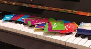 آموزش نت پیانو با فلش کارت